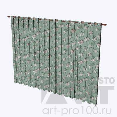 3d штора pro100